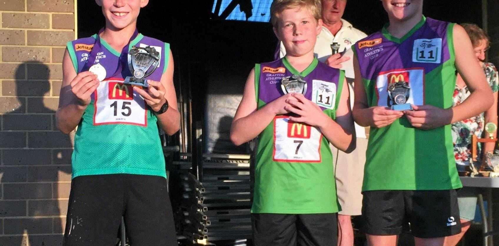 U11 Boys point score and age champion recipients
