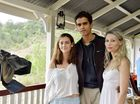 Lauren Orrell (Clementine Jackson), Nirav Mehta (Dr Miller) and Ebony Nave (Bonnie Rose) on the set of Conscious which is being filmed in Laidley.
