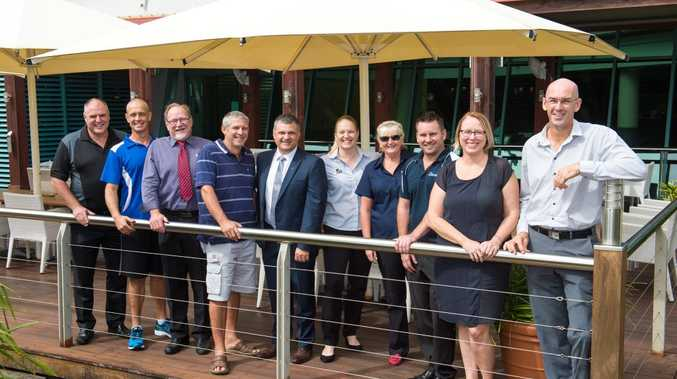 WELCOME ABOARD: Harbour club founders at C.ex Coffs from left John Rafferty, Duncan Marchant, Chris Worboys, Clive Greenaway, Martin Wells, Shona Hunter, Michelle Worboys, David Box, Melanie Zander and Lorenz Beckett.