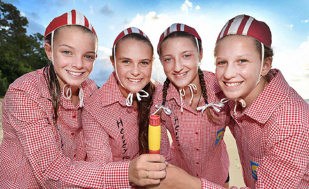 FIFTH: Hervey Bay's Krissy Horton, Jess Thomson, Carla Bull and Mia McWilliam finished fifth in the U15 beach relay.