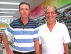 CELEBRATIONS: Ian Phillips (left) with Fred Saliba reunite to talk about the 'old' running days from 1976.