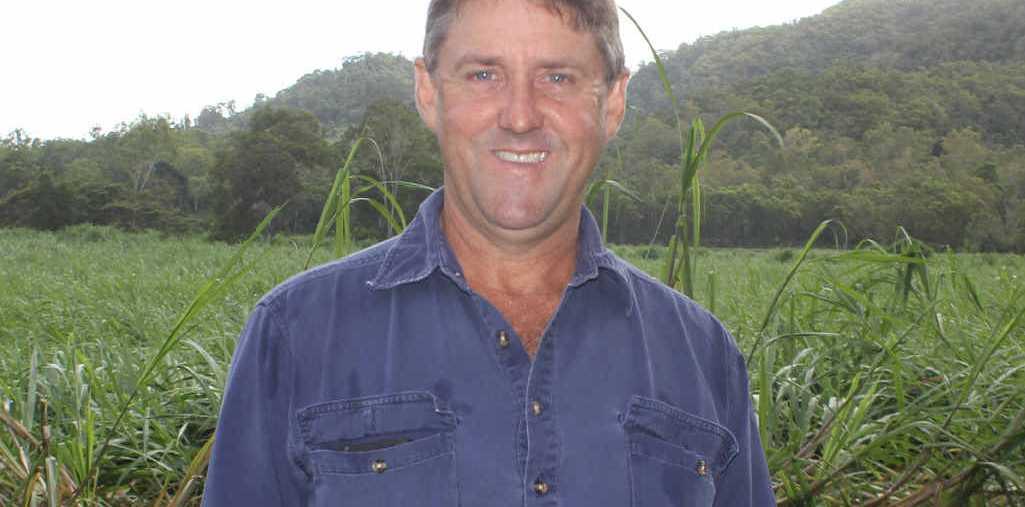 WILD WEATHER: Andrew Holmes' flattened field.