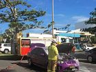 BIG BLAZE: Kerry Bridgman-Bate made a lucky escape on the weekend when her car spontaniously caught on fire in Yeppoon.
