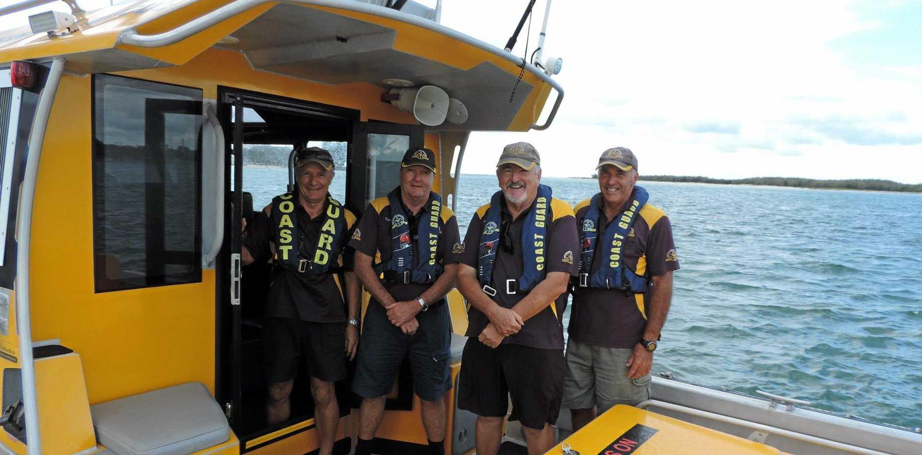 KEEPING BOATIES SAFE: John Gasparotto, Tony Barker, Harley Moss and Peter Vaughan.