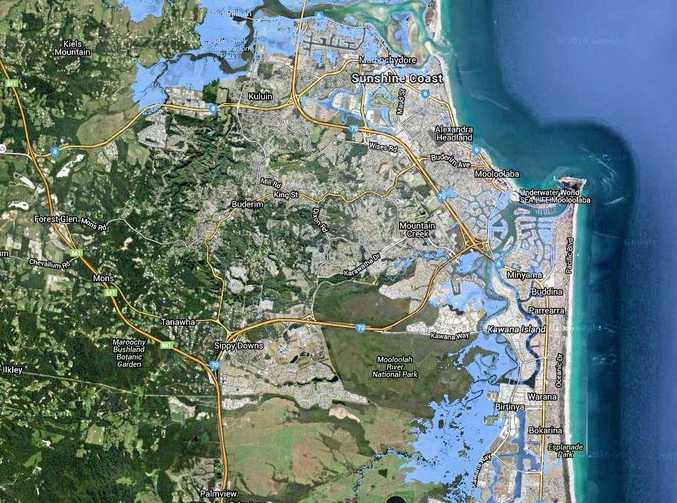 BEST CASE SCENARIO: How Kuluin, Maroochydore, Alex Headland, Mooloolaba, down to Currimundi will look by 2100 if a global agreement is reached to drastically cut emissions.