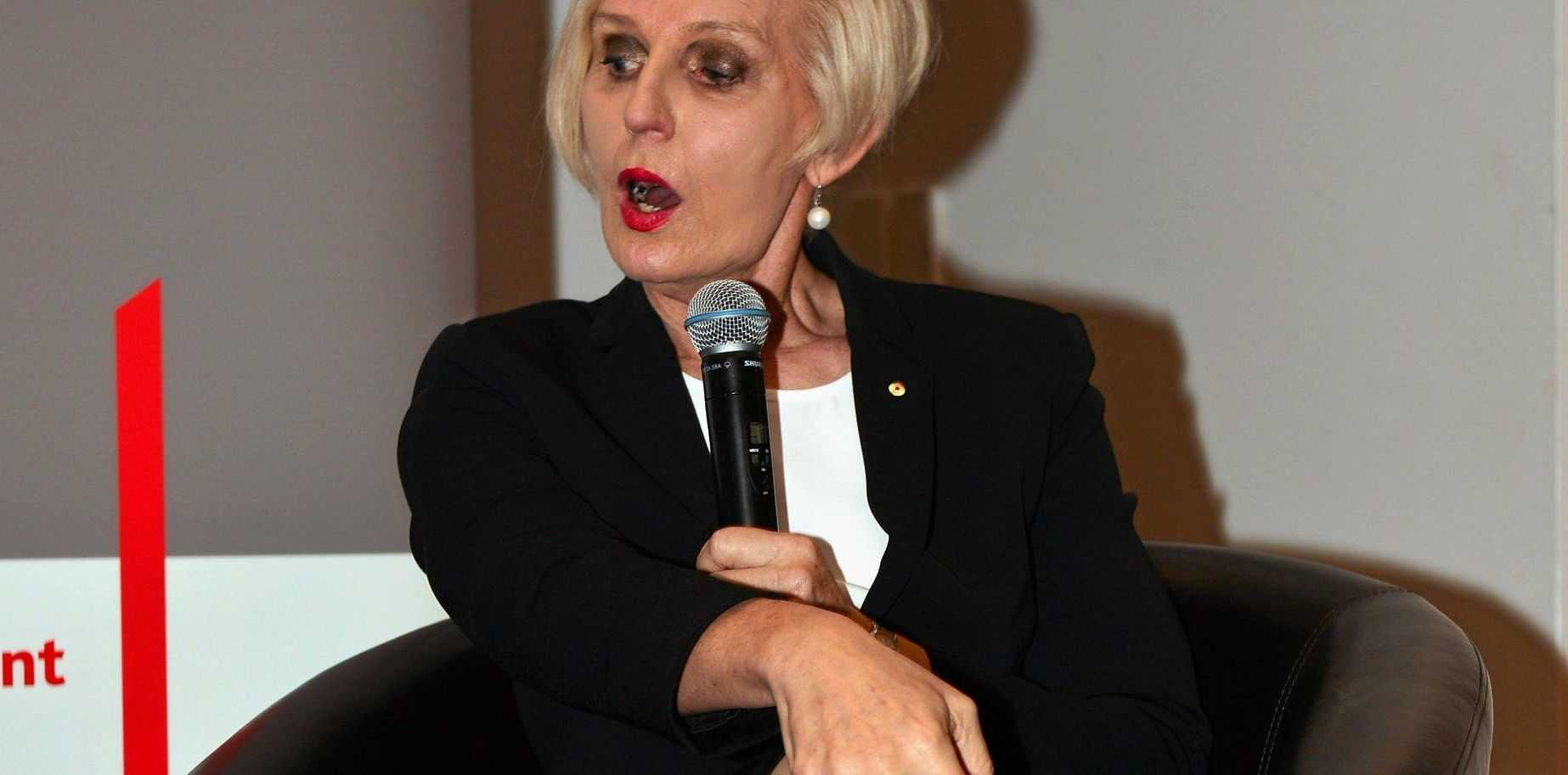 Catherine McGregor speaking at the AICD event at Novotel Twin Waters Resort on Tuesday, April 19, 2016.