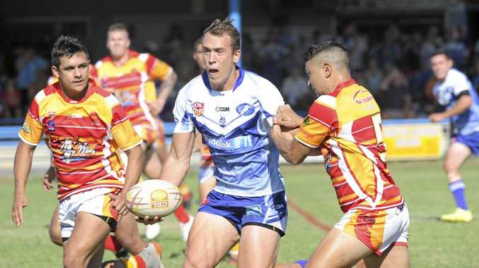 YOUNG GUN: 19-year-old Grafton Ghosts centre Dylan Collett is part of the new generation set to take Group 2 Gladiators into the future under the guidance of coach Steve Carter.