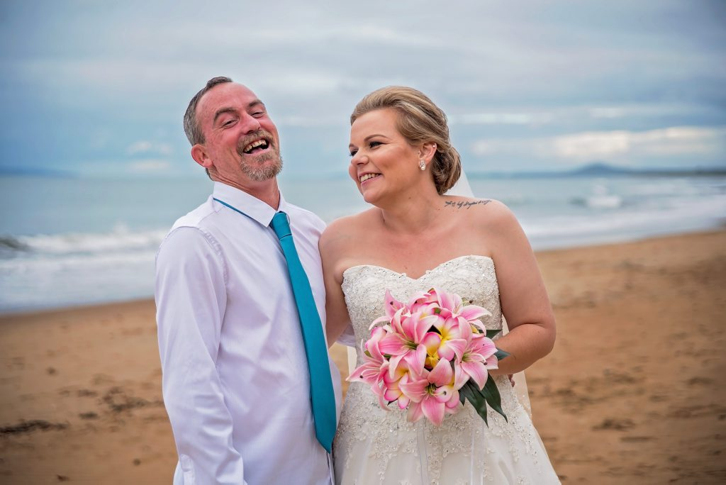 Gladstone couple Kristie and Arron Edgerton wed on Saturday April 16. Photo Cuddles Photography