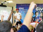 VIDEO: Broncos Ben Hunt calls on kids to take up sport