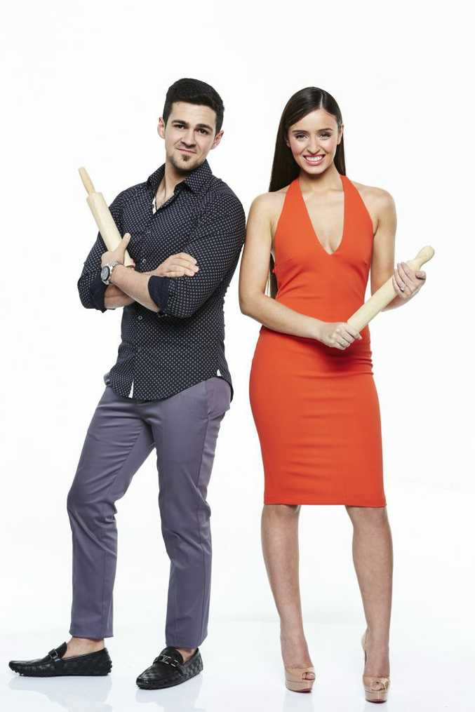 My Kitchen Rules contestants Gianni and Zana.