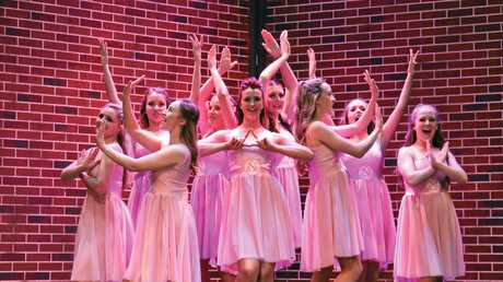 Cast of the Empire Theatre's Legally Blonde the Musical production. The Greek Chorus.