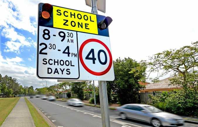 The 40km/hr school zone in Banora Point.  Photo: Blainey Woodham / Daily News