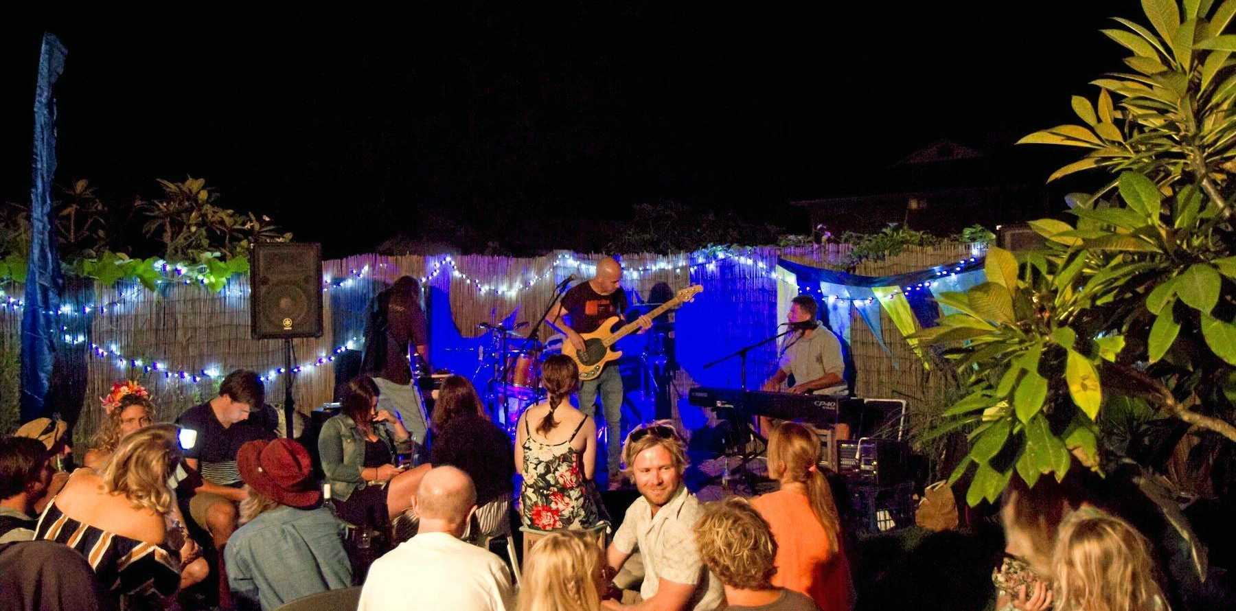 CHILLED OUT: The vibe went deep into the night with Fawlty Dogs at the Secret Garden Party event for the Surfing the Coldstream festival.