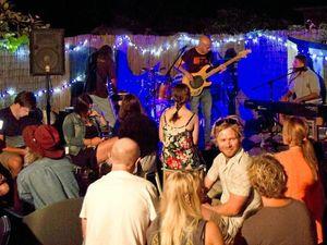 Mini-festival crammed into backyard of Yamba cafe