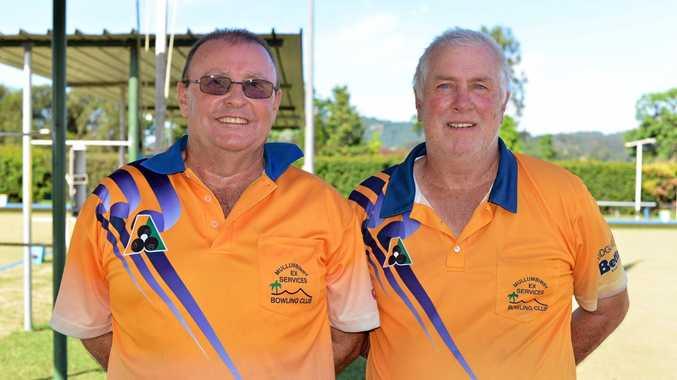 HOT SHOTS: Mullumbimby bowlers Richie Northcott (Skip) and Mark Holten won the Tweed-Byron open pairs championship.