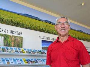 Information Centre blooms with panorama
