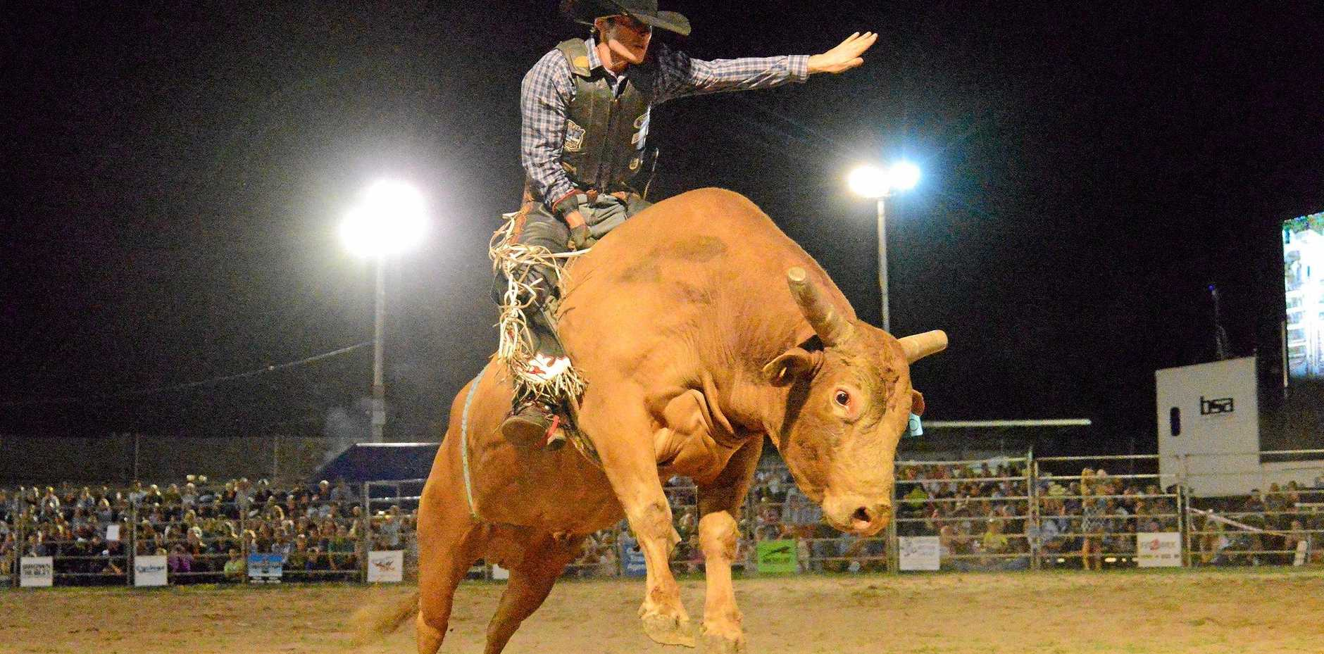 HIGH FLYING: Action from the 2015 Grafton PBR event.