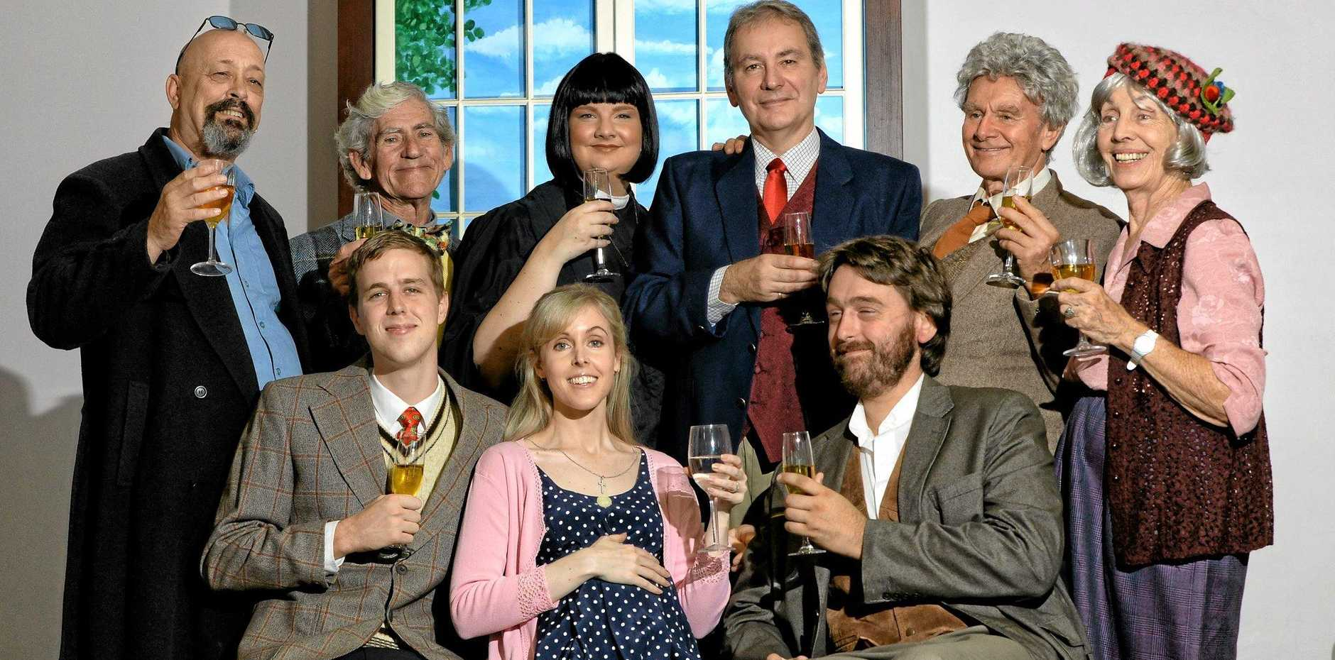 BRITISH FAVOURITE: The cast of the Ipswich Musical Theatre Company - Dinner Theatre's production of The Vicar of Dibley.