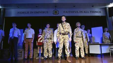 Toowoomba Grammar School drama students are performing an ANZAC play. Watson Blaikie