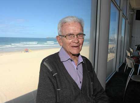 Maroochydore Surf Life Saving Club life member Bard Claffey.