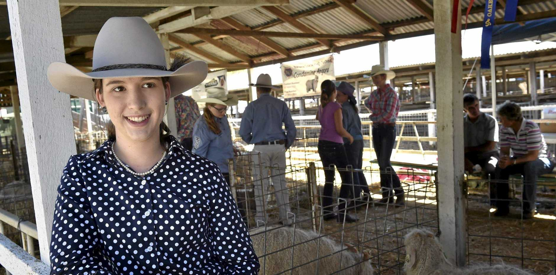 IN THE KNOW: Oakey's Sarah Ray works as a judge of angora goats during show season.