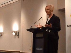 Catherine McGregor speaks at Twin Waters