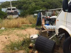 Rubbish dumped at East Point