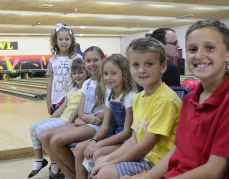 SCHOOL HOLIDAYS: Rachelle O'Mally enjoys her birthday party at the Grafton Tenpin Bowl with her friends.