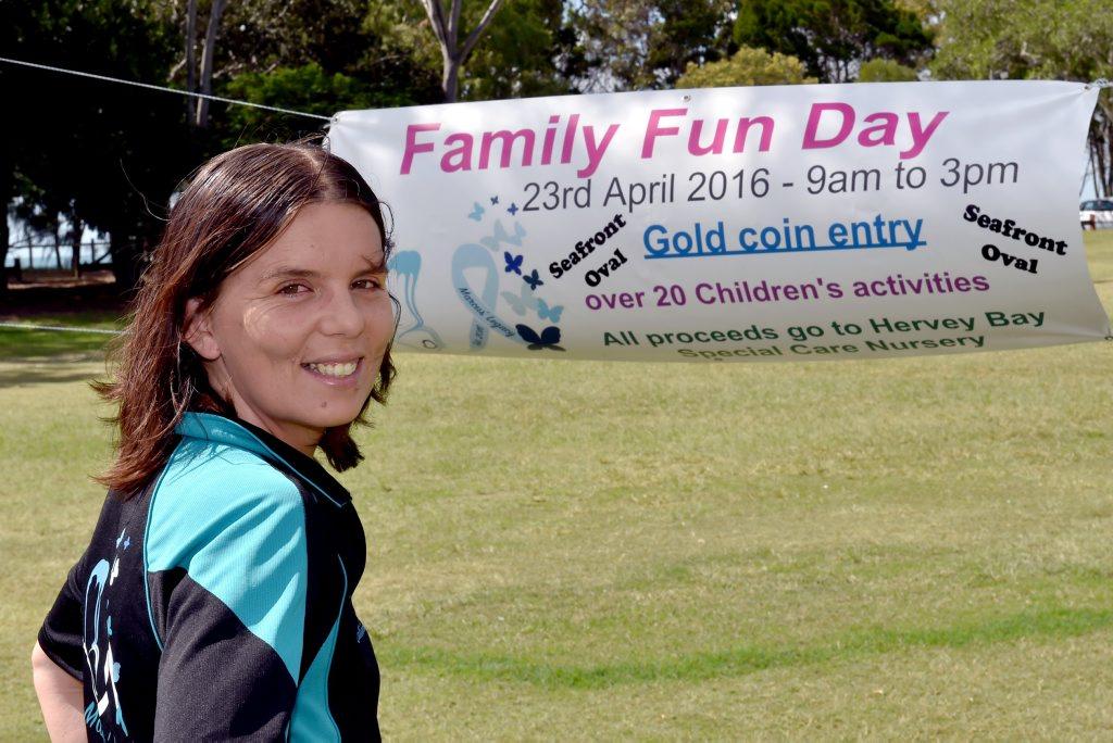 Organiser of the Family Fun Day - Jodie Tangikara. Photo: Valerie Horton / Fraser Coast Chronicle