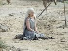 Emilia Clarke in a scene from season six of Game of Thrones.