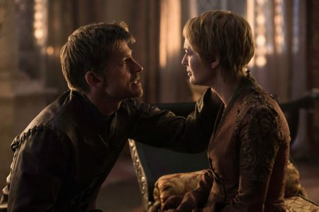 Nikolaj Coster-Waldau and Lena Headey in a scene from season six of Game of Thrones.