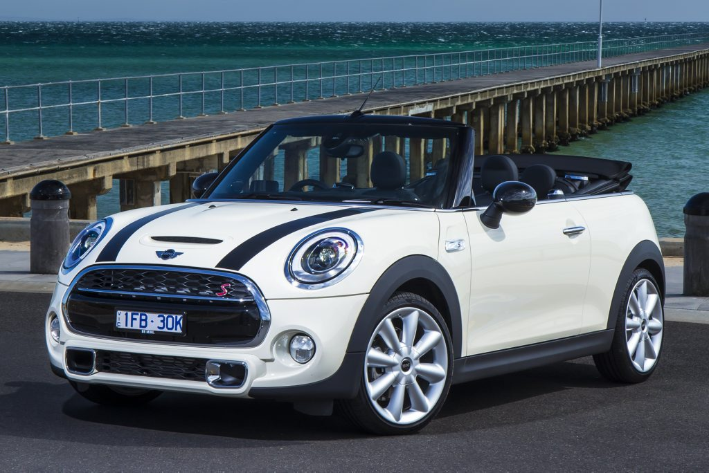 TOP DOWN: Latest Mini Convertible launches as a three-cylinder 100kW Cooper and four-cylinder 141kW Cooper S. Hot JCW version due later this year.