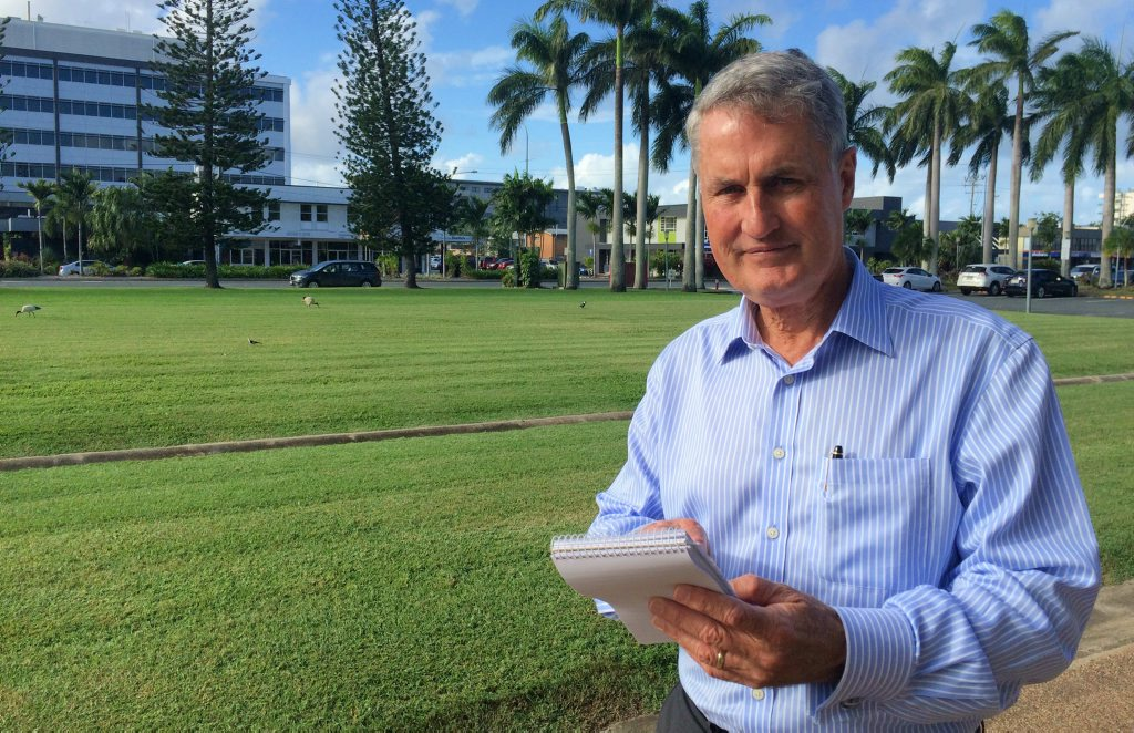 Mackay Regional Council mayor Greg Williamson checks out results from the broad survey supplied to the Daily Mercury.