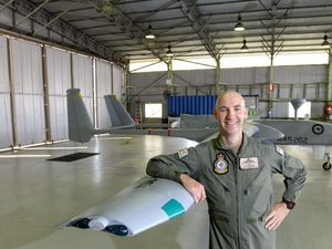 RAAF Drone takes to Ipswich skies