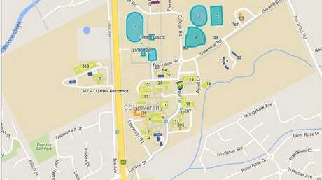 Map of CQUniversity North campus
