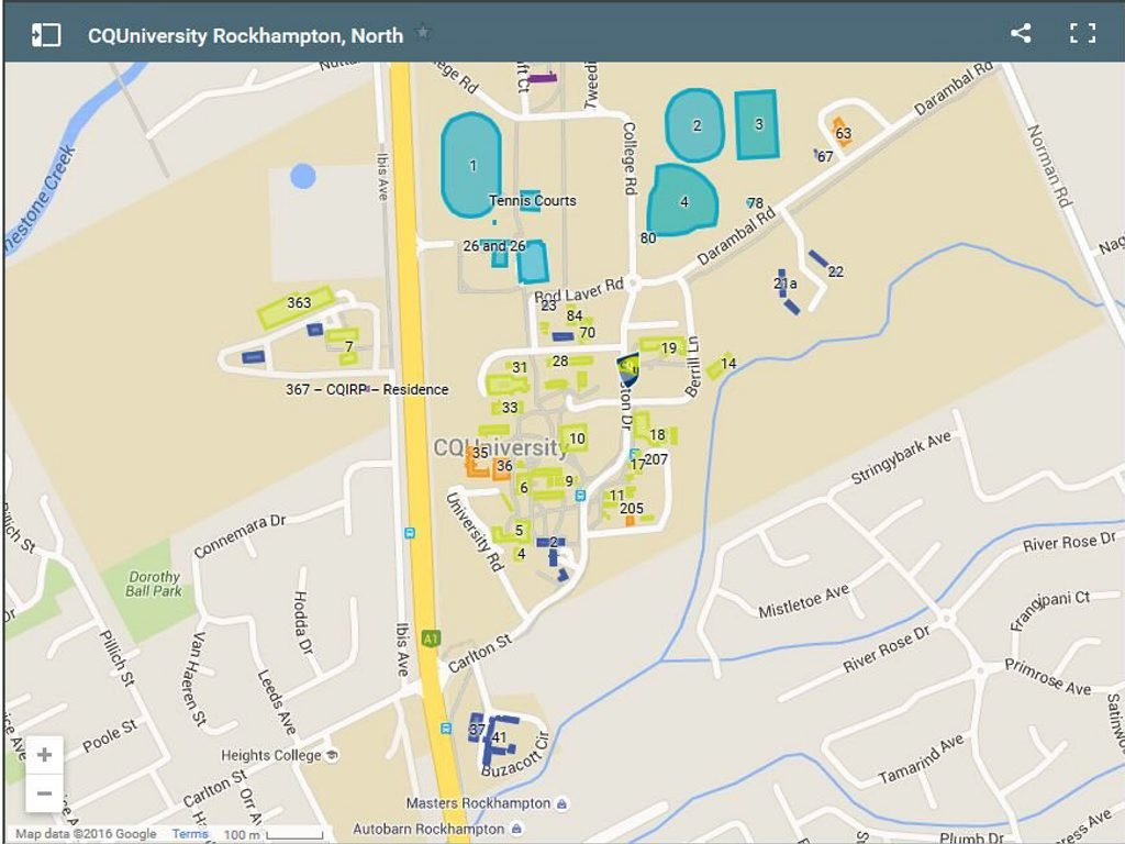 Map of CQUniversity North campus