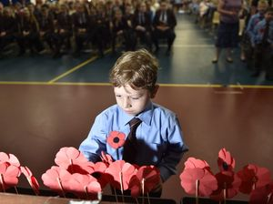 ANZAC service at TACAPS