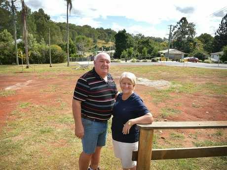 Carolyn and Doug Greensill where the are planning to build the new Kandanga pub. Photo Renee Albrecht/Gympie Times