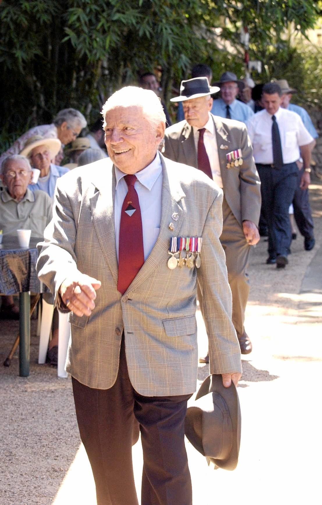 Anniversary of 25th Battalion heading off to war, Errol Jorgensen (dec) took part in the official ceremony. The Chronicle Archives. Published March 2006