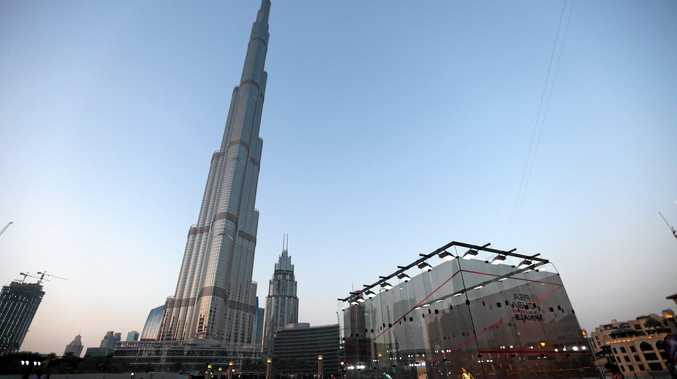 STUNNING BACKDROP: The squash courts to be used in the Dubai World Series Final next month.