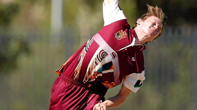 STATE REP: Toowoomba cricketer Brendan Doggett in action for the Queensland Indigenous team.
