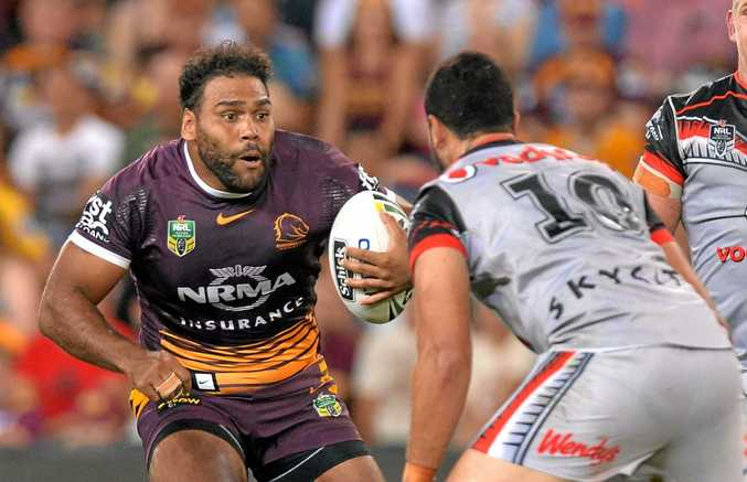 STARTING SPOT: Sam Thaiday will be in the run-on side for the Broncos for the first time this season tonight.