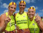 WINNERS ARE GRINNERS: Newport's open women's board relay team of Georgia Miller, Maddi Spencer and Lara Moses.
