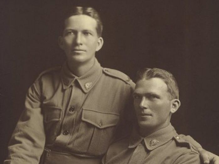 WAR HEROES: Jim and John Hunter.