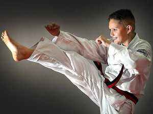 Karate kid kicked nerves with martial arts