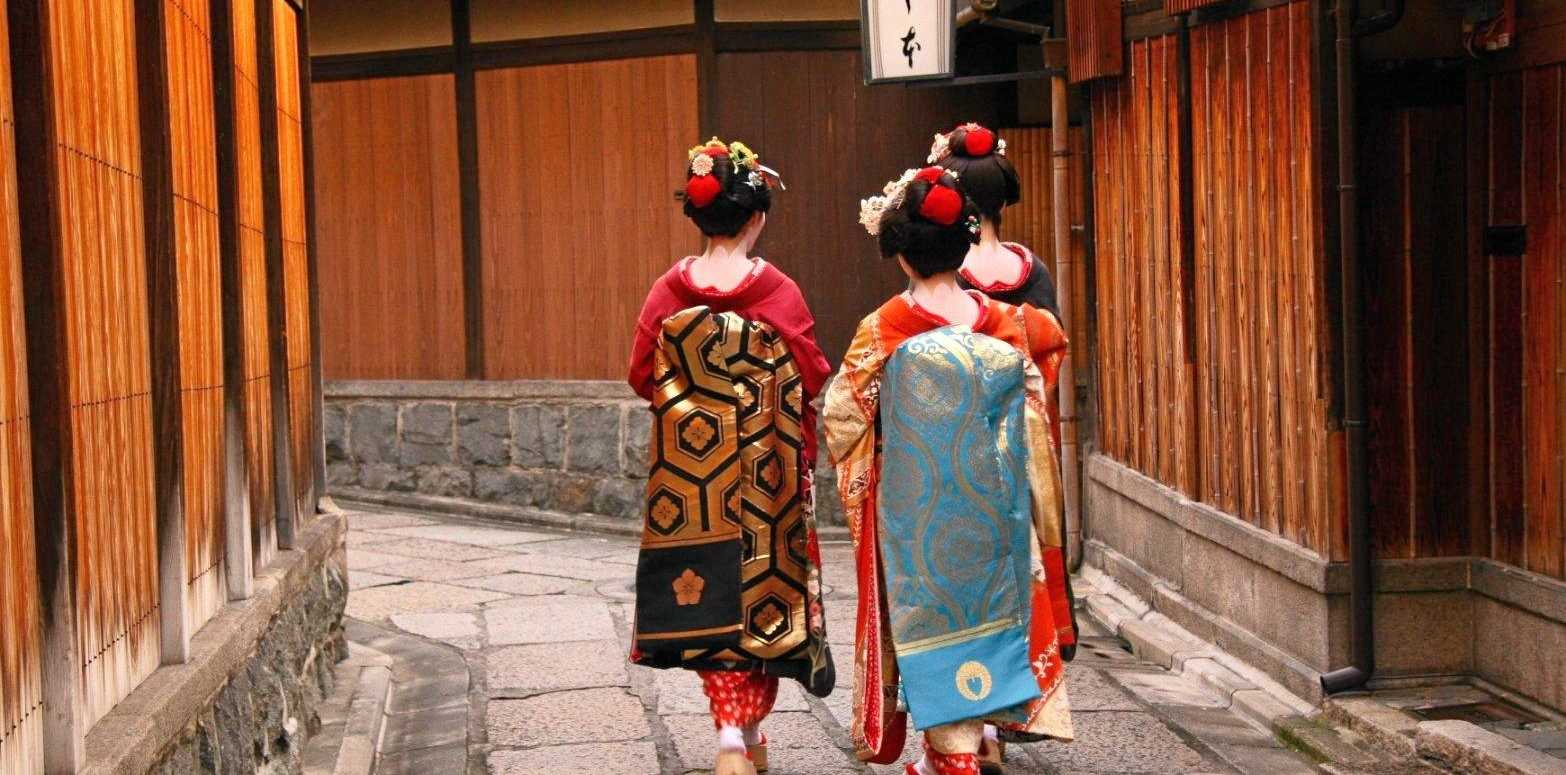 Geishas in Kyoto's Gion district.