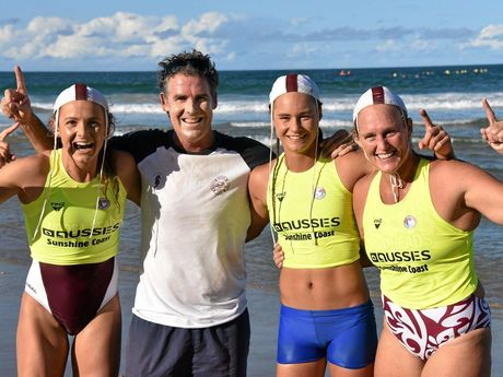 VICTORS: Noosa's ski relay team of Jordan Mercer, coach Darren Mercer, Grace Kaihau and Sharleen Kelly.