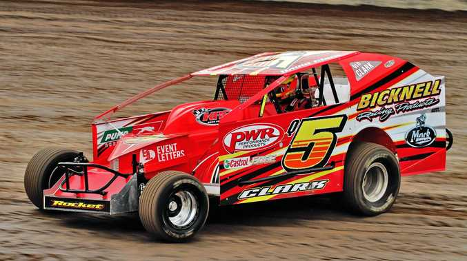 Queensland's David Clark in his most recent outing at the Toowoomba Speedbowl.