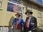 25th Battalion veterans Bert Miles (left) and Richard McKenna were on hand for the unveiling and dedication of the monument recognising the 25th battalion at Milne Bay Military Museum.