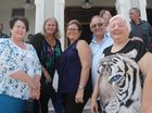 Lesa Bradshaw, Sharyn McCarthy, Linda Thomson and Martin and Vivien Collins worked at Pioneer Shire Council until amalgamation in 1994. Photo Lucy Smith / Daily Mercury